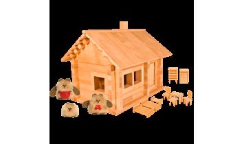 Конструктор Избушка три медведя с куклой и мебелью