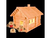 Конструктор Избушка три медведя с куклами и электропроводкой
