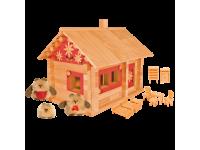 Конструктор Избушка три медведя с куклами, мебелью и росписью