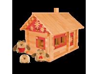 Конструктор Избушка три медведя с куклами и росписью