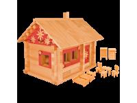 Конструктор Избушка три медведя с мебелью и росписью