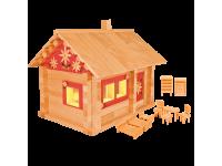 Конструктор Избушка три медведя с мебелью, росписью и электропроводкой